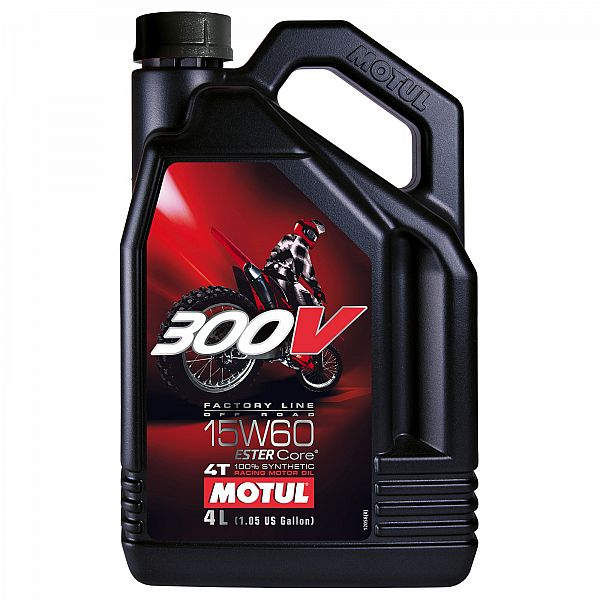 Motul 300V 4T Factory Line Off Road Racing 15W-60, 4L