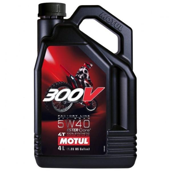 Motul 300V 4T Factory Line Off Road Racing 5W-40, 4L